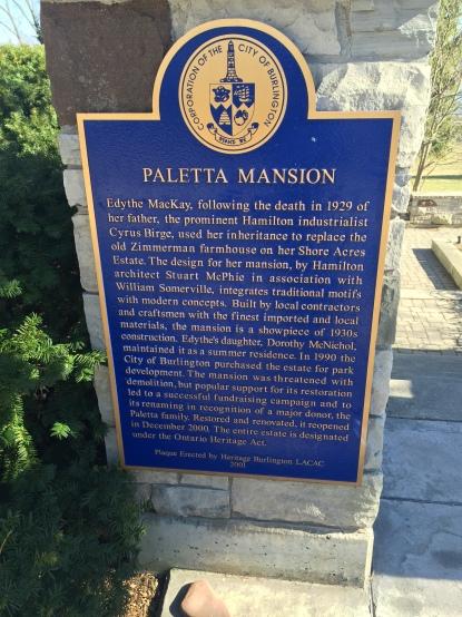 Paletta Mansion Plaque