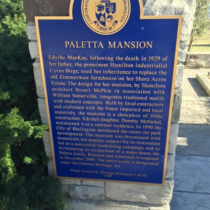 Paletta Mansion Plaque