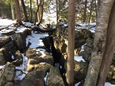 Rock formation, Mt Nemo