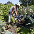 Michelle Bennett at Central Park Community Garden